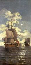 Monamy Swaine, Moonlight Scene: Ships Saluting, circa 1800. BHC1074.
