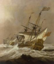 The Resolution in a Gale, Willem van de Velde the Younger (c.1678)