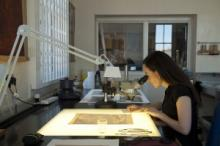 Documenting Paper Conservation at work.