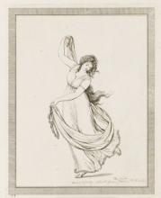 Lady Hamilton performing one of her 'attitudes', engraving after Frederick Rehberg, 1794 (NMM, PAD3221)