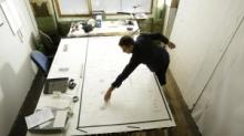 Layout with Dryden in studio
