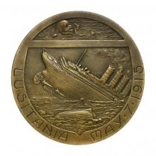 Medal commemorating the sinking of the Lusitania