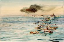 """""""Track of the Lusitania"""" painting in our collection"""
