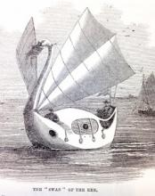 George Peacock's Swan boat, Illustrated London News, Oct 1860