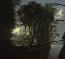View in Pickersgill Harbour, Dusky Bay, New Zealand, by William Hodges (1773-76)