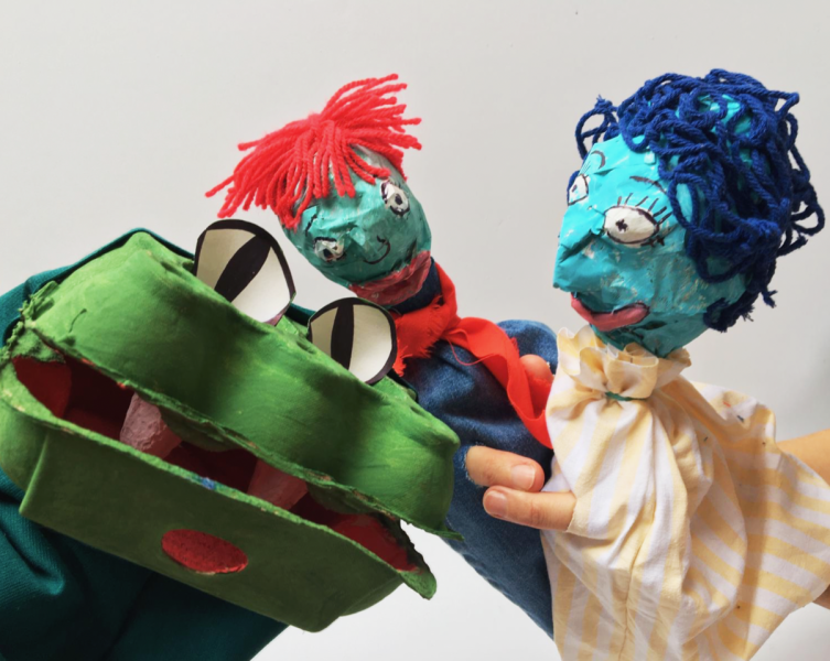 Make your own seaside inspired puppets