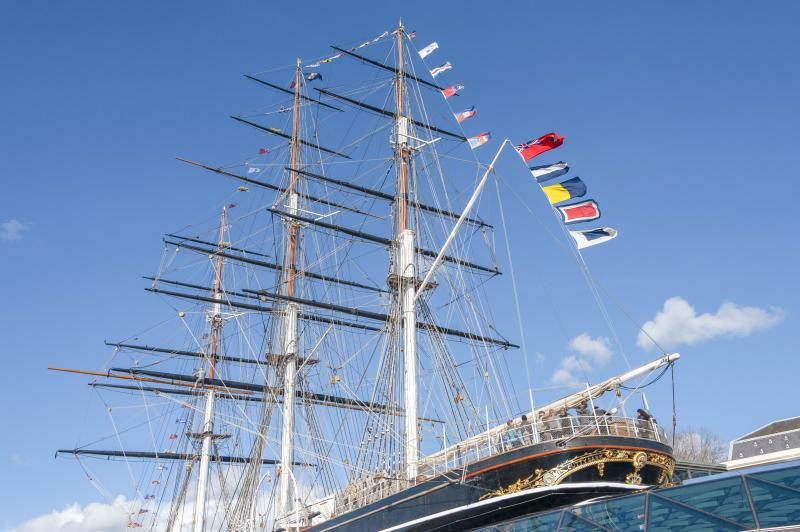 Signal flags aboard the Cutty Sark
