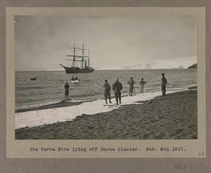 Terra Nova (1884) lying off Barne Glacier