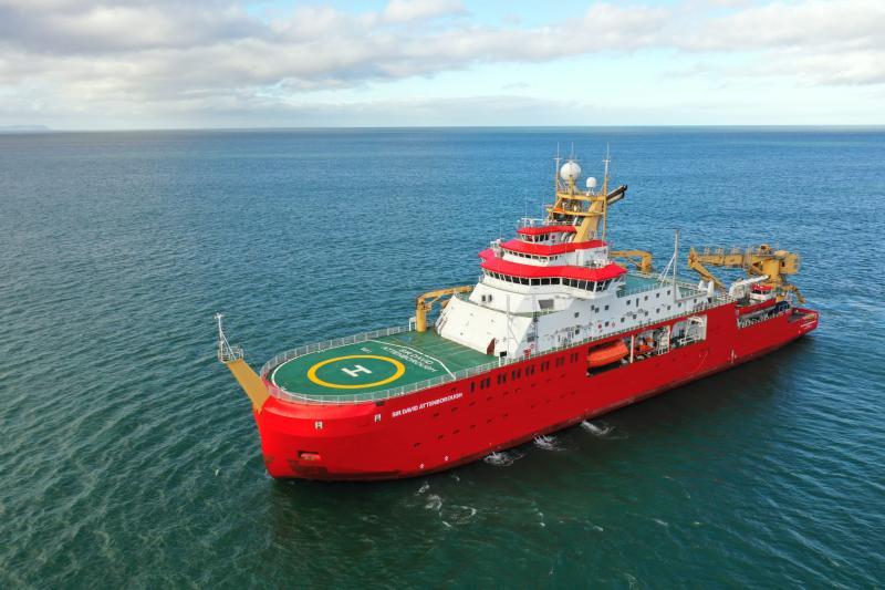The new polar research ship Sir David Attenborough