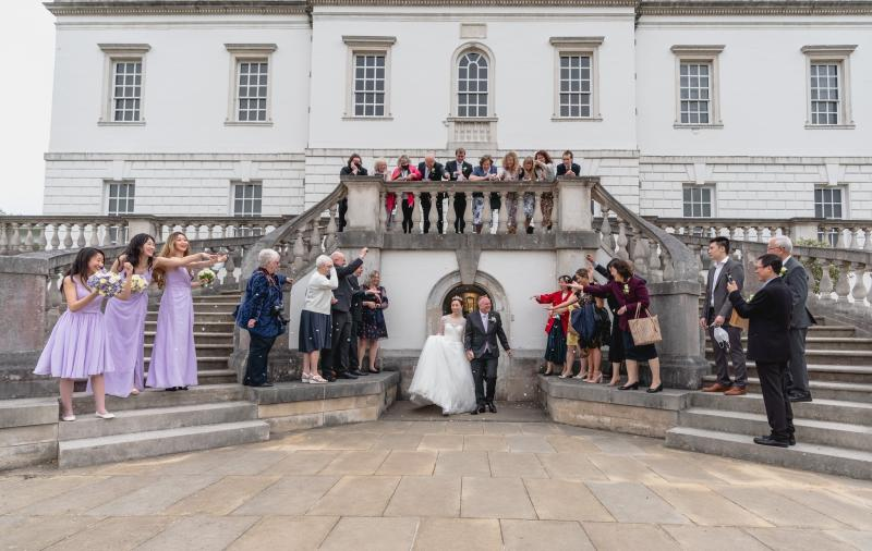 Confetti Wedding at the Queen's House by Jeff Oliver Photography