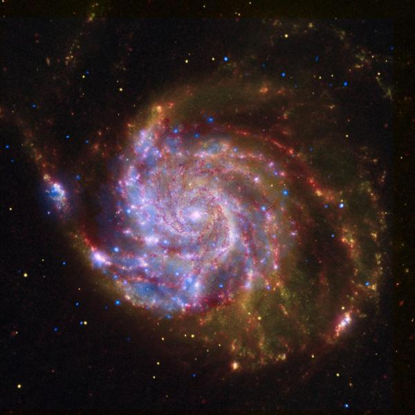 A spiral image of a galaxy