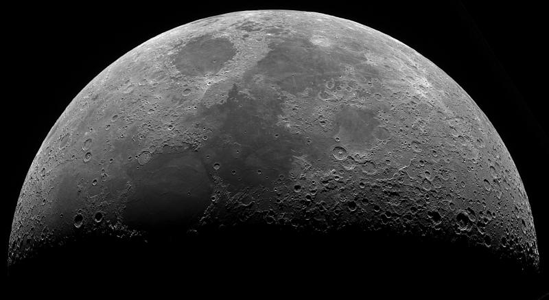 6.5-day-old moon by Steve Knight