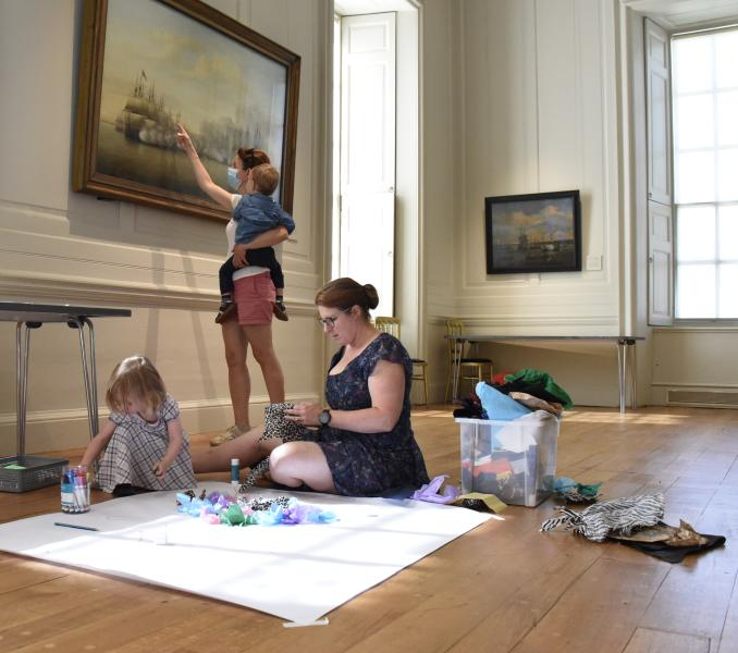 (Source of families in Van de Velde studio of the Queen's House while making crafts Picture)