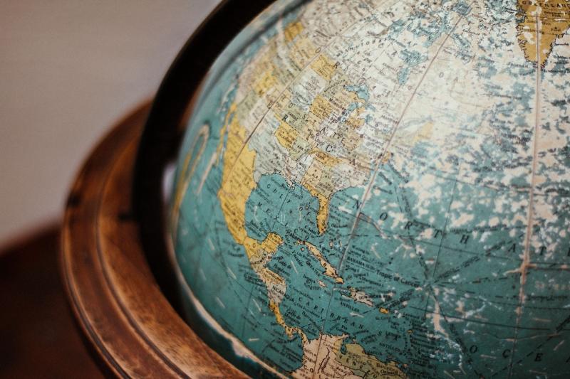 A table globe