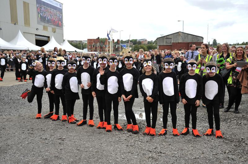 Penguin Parade for Ice Worlds Festival