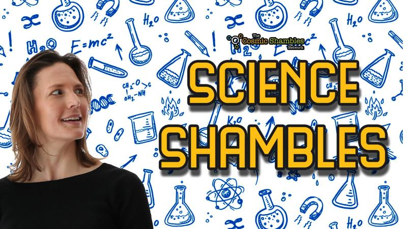 Image of Dr Helen Czerski with the Science Shambles logo