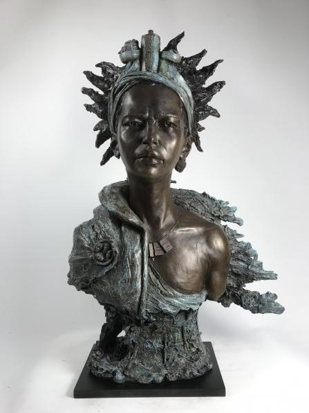 An image for 'Eve Shepherd's Sea Deity representing Action for Refugees in Lewisham'