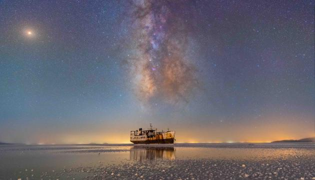 Sharafkhane Port and Lake Urmia © Masoud Ghadiri | Insight Investment Astronomy Photographer of the Year 2019